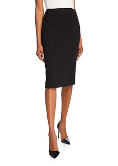 Ralph Lauren Collection Cindy Wool Crepe Pencil Skirt