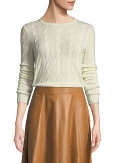 Ralph Lauren Collection Crewneck Long-Sleeve Cashmere Cable-Knit Sweater
