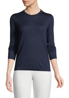 Ralph Lauren Collection Crewneck Long-Sleeve Cashmere Jersey Sweater