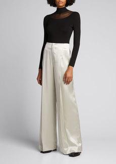 Ralph Lauren Collection Diane Silk Twill Wide-Leg Pants