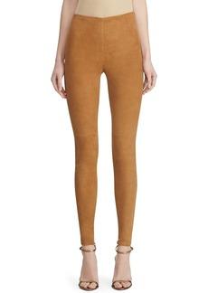 Ralph Lauren Collection Eleanora Suede Skinny Pants