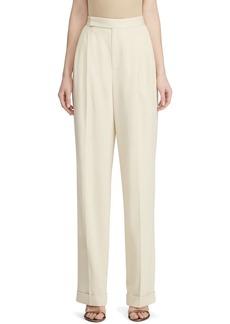 Ralph Lauren Collection Fay Wool Straight-Leg Pants