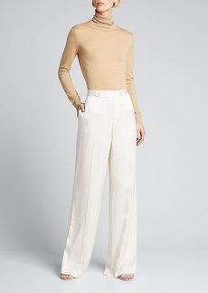 Ralph Lauren Collection Hailey Draped Satin Pants