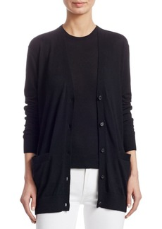 Ralph Lauren Iconic Style Cashmere Long Sleeve V-Neck Cardigan
