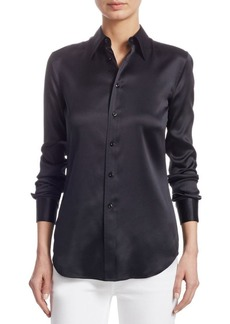 Ralph Lauren Iconic Style Cindy Stretch-Silk Shirt