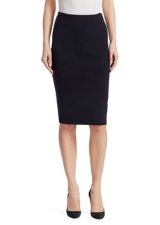Ralph Lauren Iconic Style Merino Wool-Blend Pencil Skirt