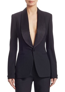 Ralph Lauren Iconic Style Wool & Silk Sawyer Jacket
