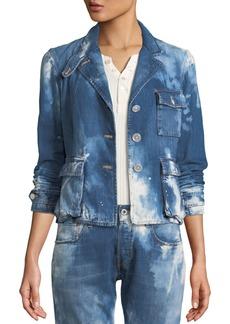 Ralph Lauren Collection Isabele Coastal Denim Safari-Style Jacket