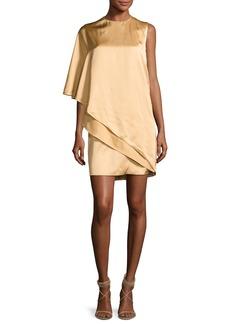 Ralph Lauren Collection Kayla Draped One-Shoulder Dress