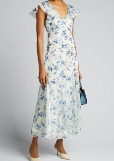 Ralph Lauren Collection Kegan Floral Toile Evening Dress