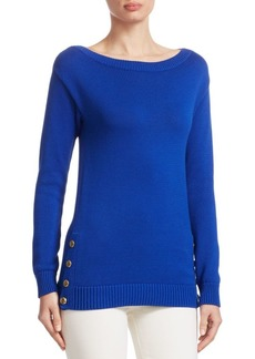 Ralph Lauren Long-Sleeve Button Sweater