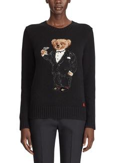 Ralph Lauren Collection Martini Bear Slim-Fit Sweater