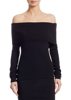 Ralph Lauren Iconic Style Off-The-Shoulder Overlay Top