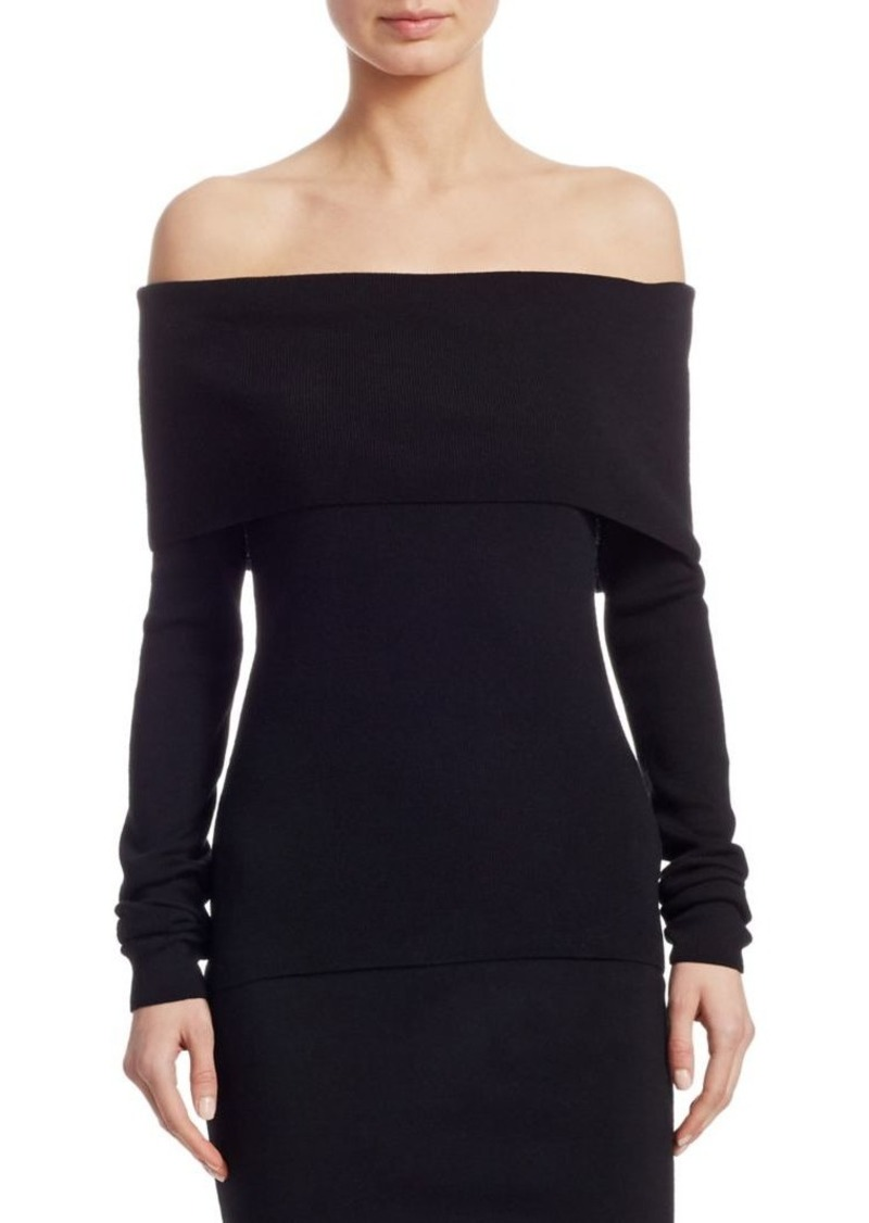 Ralph Lauren Iconic Style Off-The-Shoulder Sweater