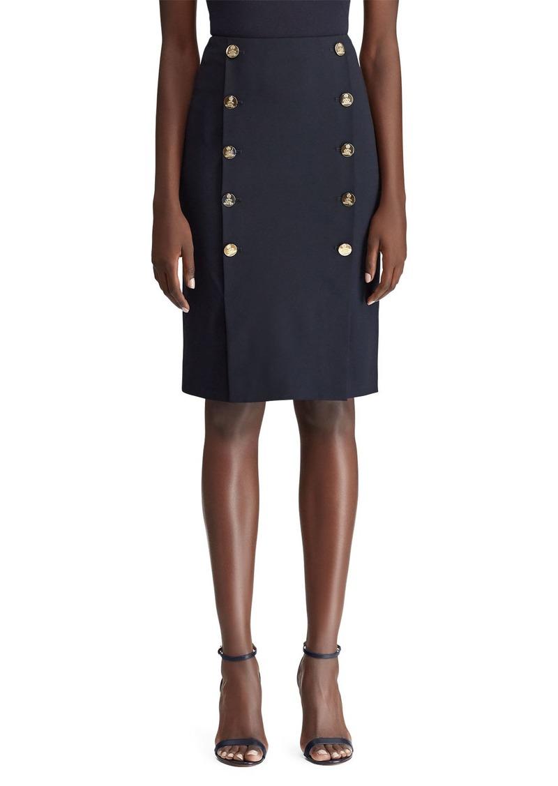 Ralph Lauren Collection Ophelie Sailor Button-Front Skirt