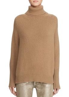 Ralph Lauren Collection Oversized Wool-Cashmere Turtleneck Sweater