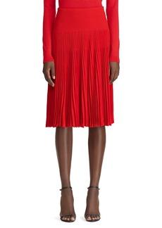 Ralph Lauren Collection Pleated Crepe Midi Skirt