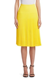 Ralph Lauren Pleated A-Line Skirt