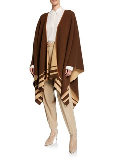Ralph Lauren Collection Reversible Striped Wool-Cashmere Poncho