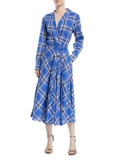Ralph Lauren Collection Rivera Plaid Linen Dress
