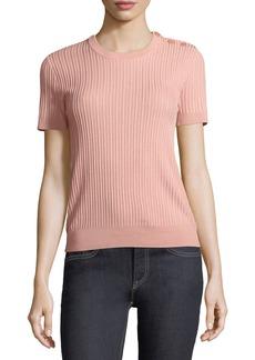 Ralph Lauren Collection Short-Sleeve Button-Shoulder Sweater