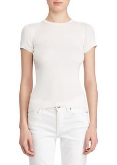 Ralph Lauren Collection Short-Sleeve Ribbed-Silk Sweater