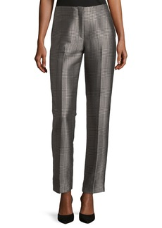Ralph Lauren Collection Simone Houndstooth Plaid Pants