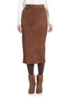 Ralph Lauren Suede Preston Trouser Skirt