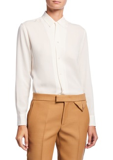 Ralph Lauren Collection Taho Silk Georgette Shirt
