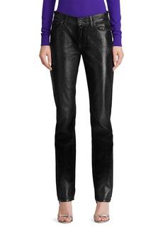 Ralph Lauren Collection Velvet Slim-Leg Jeans
