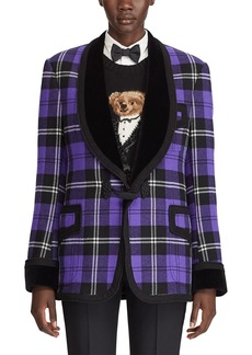 Ralph Lauren Collection Wilde Plaid Velvet-Lapel Tuxedo Jacket