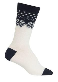 Ralph Lauren Colorblock Snowflake Boot Socks