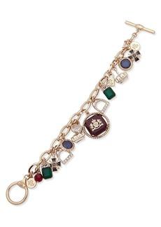 Ralph Lauren Crystal & Beaded Multi-Charm Bracelet