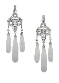 Ralph Lauren Crystal Chandelier Drop Earrings
