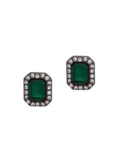 Ralph Lauren Crystal Geometric Stud Earrings