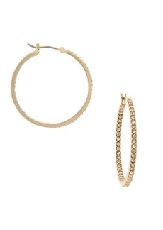 Ralph Lauren Crystal Hoop Earrings