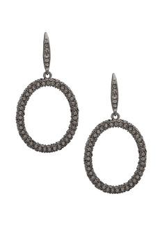 Ralph Lauren Crystal Hoop Earrings