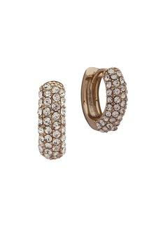 Ralph Lauren Crystal Huggie Hoop Earrings