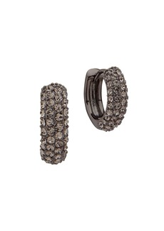 Ralph Lauren Crystal Huggie Hoop Earrings