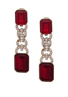 Ralph Lauren Crystal Linear Drop Earrings