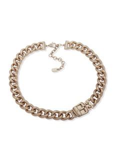 Ralph Lauren Crystal Link Collar Necklace