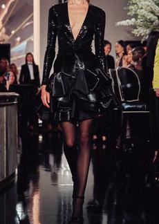 Ralph Lauren Deandra Tiered Silk-Blend Taffeta Mini Skirt