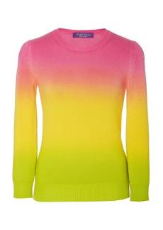 Ralph Lauren Dip-Dyed Ombré Cashmere Sweater