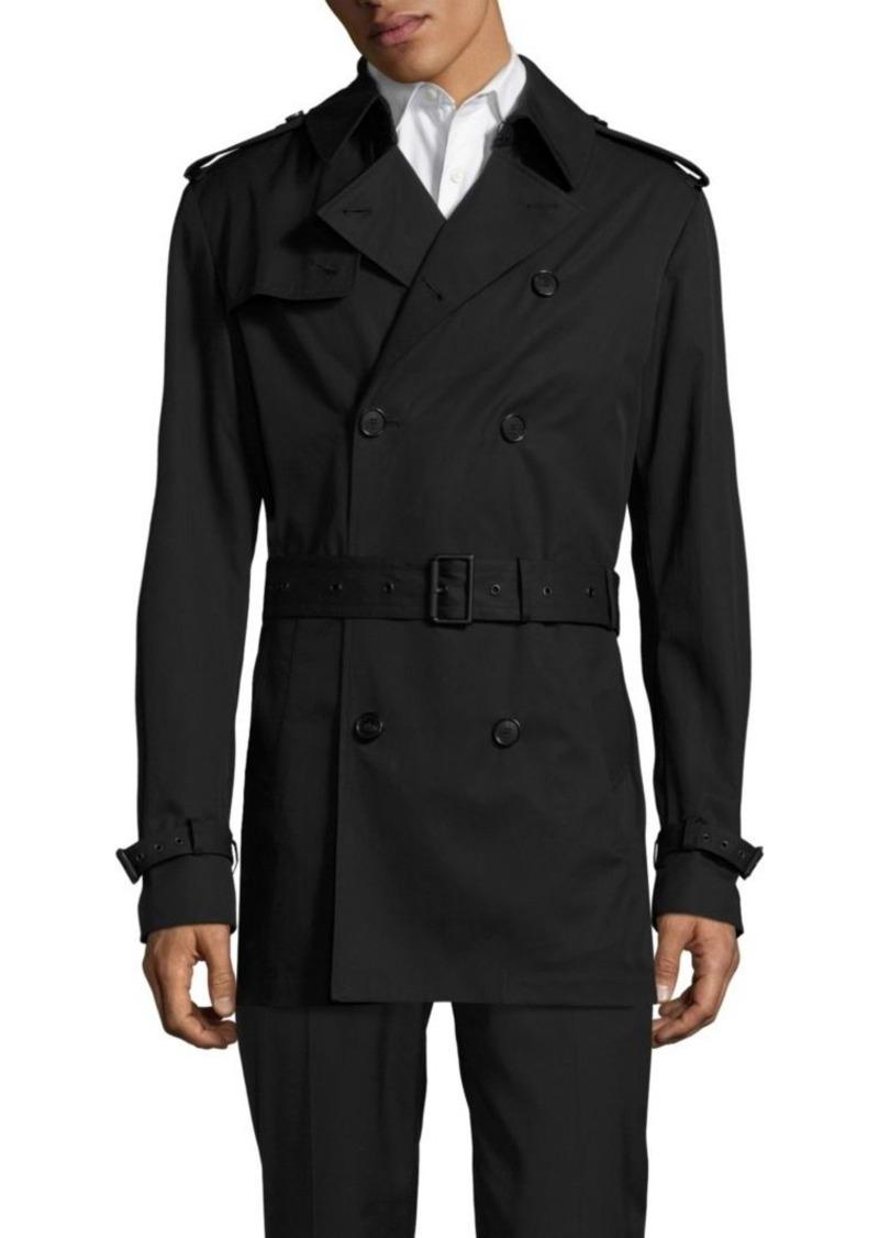 Ralph Lauren Double-Breasted Short Trench Coat