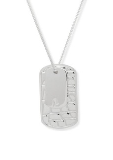 Ralph Lauren Embossed Dog Tag Necklace