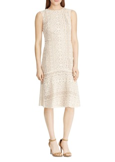 Lauren Ralph Lauren Embroidered Sleeveless Dress