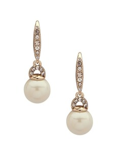 Ralph Lauren Faux Pearl & Crystal Drop Earrings