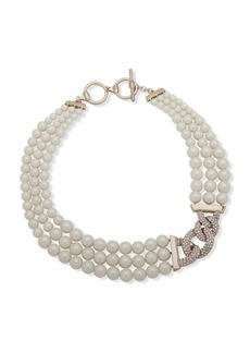 Ralph Lauren Faux Pearl & Crystal Necklace