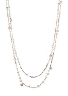 Ralph Lauren Faux Pearl Double Strand Necklace