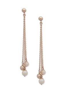 Ralph Lauren Faux Pearl Linear Earrings